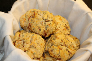 sun-dried tomato and basil biscuits