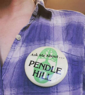 """Ask Me About... Pendle Hill"" button"