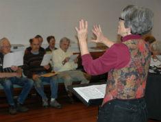 Jackie directing the PH Chorus
