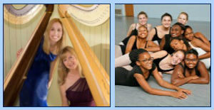 "Featuring ""Principally Harps"" with Mindy Cutcher & Janet Witman and ""Dancefusion"" - click for more details"