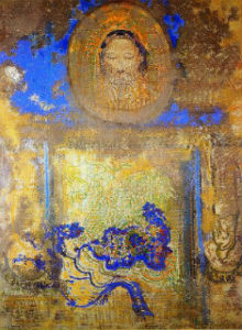 """Evocation"" by Odilon Redon (1840-1916)"