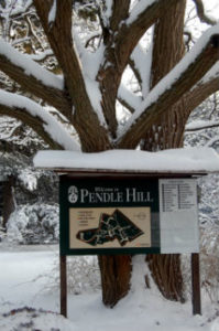 Pendle Hill sign (c) Shirley Dodson